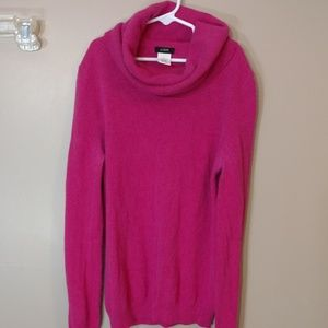 J Crew Pink Sweater Small Cashmere Blend Cowl Neck